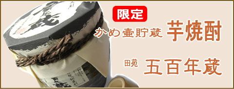 田苑 五百年蔵 かめ壷貯蔵